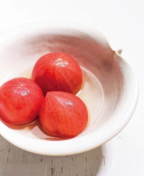 【トマトの出汁びたし】
