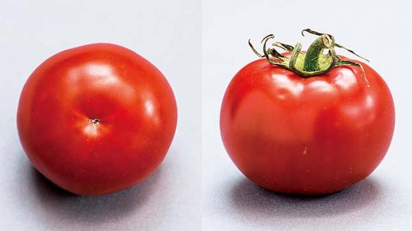 【おいしいトマトの見分け方】