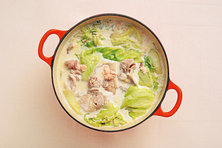 明太豆乳しゃぶしゃぶ鍋
