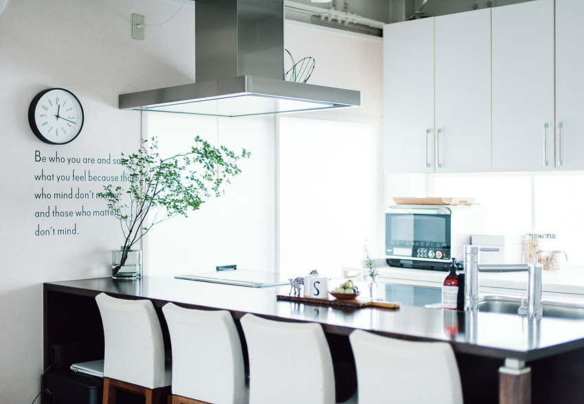広く様子が見られるキッチンが 家全体の司令塔に