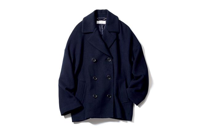 1.フリース素材のピーコート。軽くてほっこり暖か