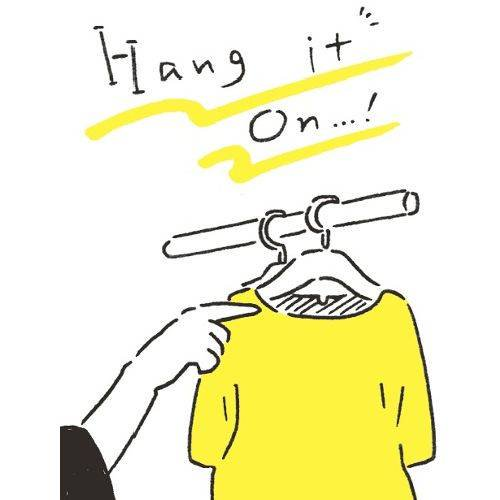 ★もう、畳まない! 服は脱いだらすぐに吊るす!