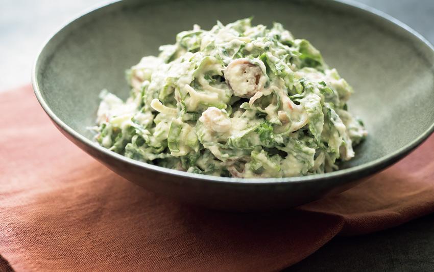 ボウルいっぱい食べたくなる 「香味野菜の白和え」