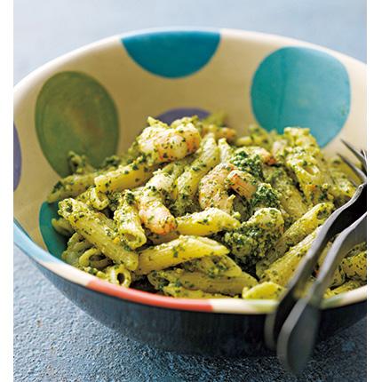 シチリアのマンマの家庭料理レシピ「えびとアーモンドペーストのパスタ」 [おとなスタイル]