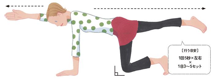 2.深部背筋を鍛えるエクササイズ「ハンドニー」