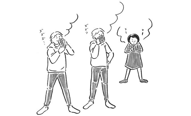 ♦白湯は「仁王立ち」で飲むと、解毒のスピードを速める