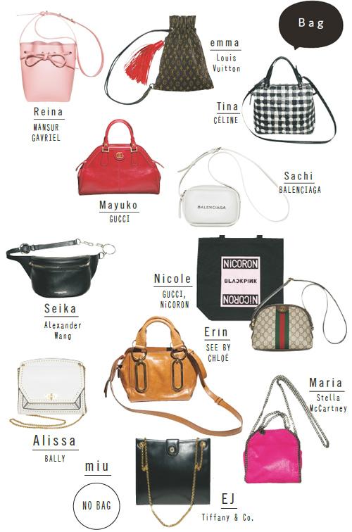 モデルが持ち歩いてるバッグの中身には一体何が入ってる? [ViVi]