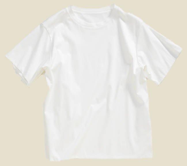 Q. Tシャツで通勤未経験の人も 着られる万能お仕事Tは?