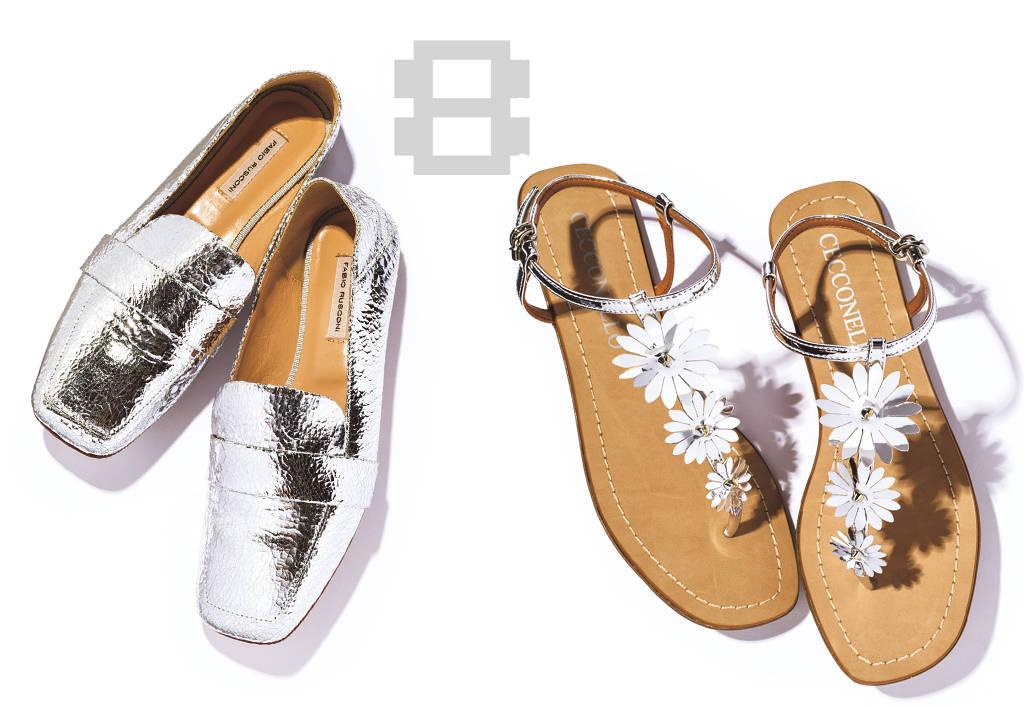 ♯08 きれいめにも今っぽくもなる シルバー靴は一足あると便利