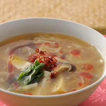 夜スープ 黒酢入り酸辣湯(サンラータン)